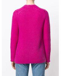 Iris Von Arnim Pink V-neck Jumper