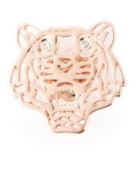 KENZO - Pink Small 'tiger' Earrings - Lyst