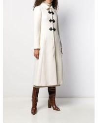 Manteau à design évasé Paule Ka en coloris White