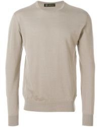 Versace Multicolor Round Neck Jumper for men