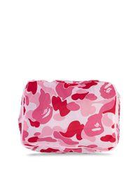 A Bathing Ape Pink Abc Camouflage Washbag