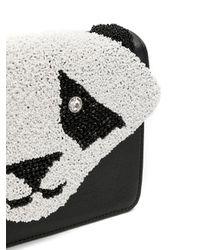 Isla Panda Schoudertas Met Logo in het Black