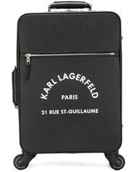 Karl Lagerfeld ロゴ スーツケース Black