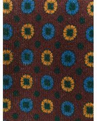 メンズ Lardini スポットプリント ネクタイ Multicolor