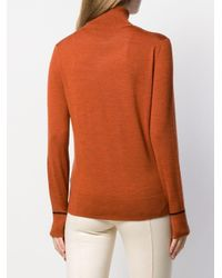 Calvin Klein タートルネック プルオーバー Orange