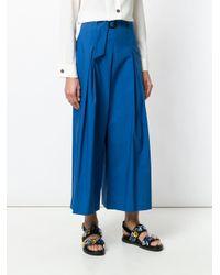 Etro クロップド フレアパンツ Blue