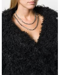Ann Demeulemeester - White Crystal Stone Necklace - Lyst