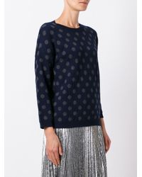 Societe Anonyme - Blue Polka Dot Pullover - Lyst