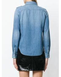 FRAME Blue Casual Denim Shirt
