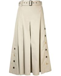 Eudon Choi Natural Belted Cropped Trousers