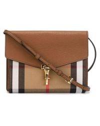 Burberry - Brown House Check Crossbody Bag - Lyst