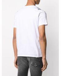 Just Cavalli T-Shirt mit abstraktem Print in White für Herren