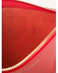 Comme des Garçons Red 'colour Plain' Pouch for men