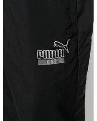 メンズ PUMA ドローストリング トラックパンツ Black