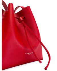 Lancaster Red Logo Print Shoulder Bag