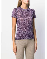 Nanushka プリント Tシャツ Purple