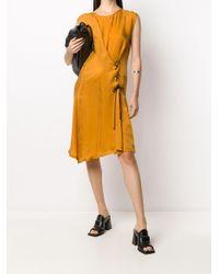 Ann Demeulemeester サイドタイ ドレス Orange