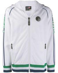 Sudadera Tennis con capucha y cremallera Philipp Plein de hombre de color White