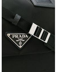 Prada Black Logo Oversized Shoulder Bag