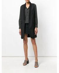 One Teaspoon Black Studded Denim Mini Skirt