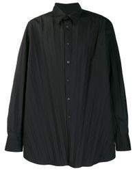 メンズ Valentino プリーツ シャツ Black