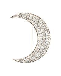 Isabel Marant - Metallic Spilla Ricamata 'moon' - Lyst