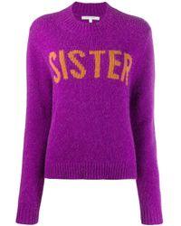 Jersey con cuello redondo en contraste Chinti & Parker de color Purple