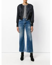 3.1 Phillip Lim - Black Cropped Bomber Jacket - Lyst