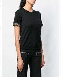 T-shirt à bords contrastants Ferragamo en coloris Black