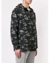 Parka con motivo camouflage di Neil Barrett in Black da Uomo