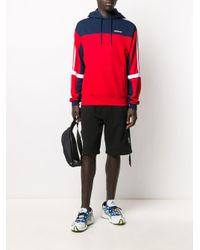メンズ Adidas カラーブロック パーカー Blue