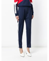 MSGM - Blue Tapered Sweatpants - Lyst