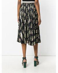 Markus Lupfer - Black Desert Flower Pleated Skirt - Lyst