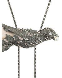 Lanvin - Metallic Embellished Bird Necklace - Lyst