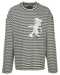 Juun.J Black Striped Long Sleeve T-shirt for men