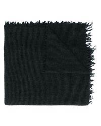 Faliero Sarti チェック スカーフ Black