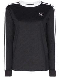 T-shirt a maniche lunghe Originals di Adidas in Black
