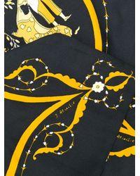Шарф Pre-owned С Цветочным Принтом Hermès, цвет: Black