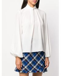 Pinko White Bluse mit weiten Ärmeln