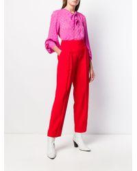 Blouse à col à lavallière MSGM en coloris Pink