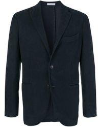 Boglioli Blue Classic Blazer for men