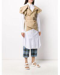 メンズ Junya Watanabe コントラストパネル シャツ White