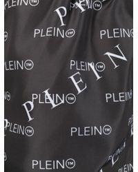 Philipp Plein Black Printed Swim Shorts for men