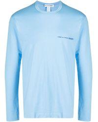 Comme des Garçons Blue Logo Long-sleeve T-shirt for men