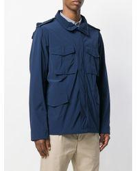 Aspesi Blue Patch Pocket Jacket for men
