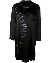 Vestito con fantasia tie dye di Raquel Allegra in Black