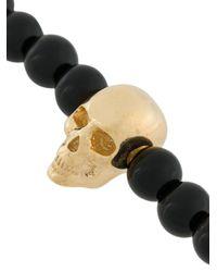 Northskull - Black Beaded Skull Bracelet for Men - Lyst
