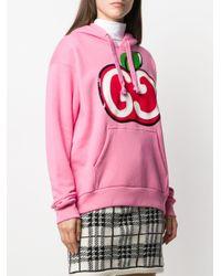 Худи С Принтом GG Apple Gucci, цвет: Pink