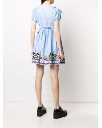 Miu Miu エンブロイダリー ドレス Blue