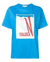 Golden Goose Deluxe Brand ロゴ Tシャツ Blue